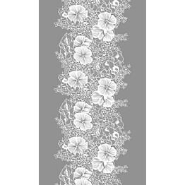 Pöytäliina Vallila Elle-kukka, 145x250cm, harmaa