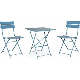 Pöytäryhmä Esino taitettava pöytä + 2 tuolia sininen
