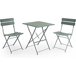 Pöytäryhmä Esino taitettava pöytä + 2 tuolia vihreä