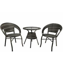 Pöytäryhmä Tenstar Falken pöytä + 2 tuolia