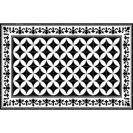 Pöytätabletti Beija Flor Sofi 33x50 cm musta/valkoinen