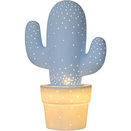 Pöytävalaisin Lucide Cactus, Ø20 cm, pastellisininen