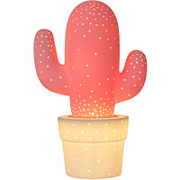 Pöytävalaisin Lucide Cactus, Ø20 cm, pinkki