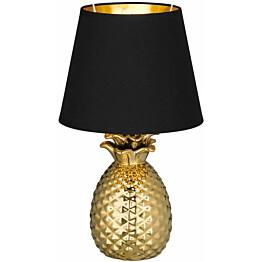 Pöytävalaisin Trio Pineapple ø200x350 mm kulta/musta