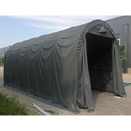 Pressutalli Prohall XXL, 4,5x9m, oviaukko 3x3.6m, 500g/m2, tummanharmaa