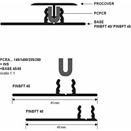 Procover Progress Profiles Insert, 2,7m, kumi