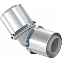 Puristuskulma Uponor S-Press, 45°, PPSU, 63-63mm