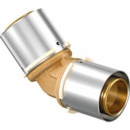 Puristuskulmaliitin Uponor S-Press, 45°, DR 40-40mm