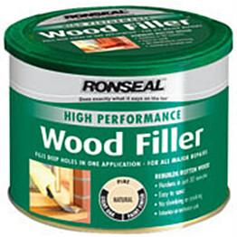 Puukitti Ronseal High Perf Wood filler 275g dark ruskea ulko- ja sisäkäyttöön