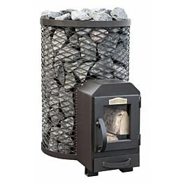 Puukiuas Stoveman 13 R LS, lasiluukulla, seinan läpi lämmitettävä (6-13m3)
