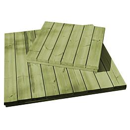 Puulaatta L1670 700x700x16 mm vihreä