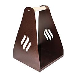 Puunkantoteline Carelia Grill® 35x35x50 cm antiikkikupari