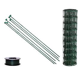 Puutarha-aitasetti Hortus, 10x10cm, 0.6x25m, sis. tolpat, vihreä