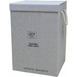 Pyykkikori Sealskin Esbada 60x40x30 cm harmaa pellava