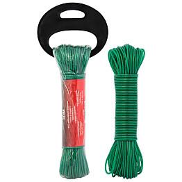 PyykkinaruProMaster PVC/teräs, 3 mm x 30 m vihreä