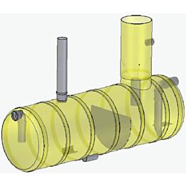 Rasvanerotin Roadpipe NS7, sisältää hälyttimen, ∅600 mm kansi, korkeus 1500 mm