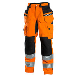 Riipputaskuhousut Dimex 6015 hi-vis stretch oranssi/musta