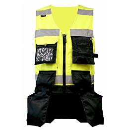Riipputaskuliivi Atex Hi-Vis 5805 keltainen/musta