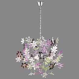 Riippuvalaisin Flower Ø 630x520 mm kromi/monivärinen