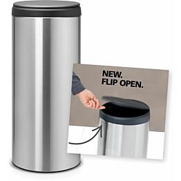 Roska-astia Brabantia Flip Bin, 30L, Matt Steel Fingerprint Proof