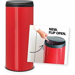 Roska-astia Brabantia Flip Bin, 30L, Passion Red