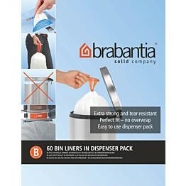 Roskapussi Brabantia PerfectFit B 5 litraa 60 kpl x 12 jakelupakkausta