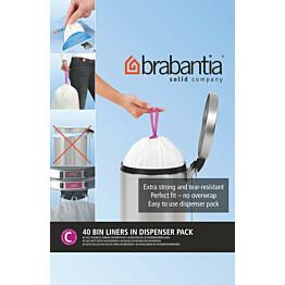 Roskapussi Brabantia PerfectFit C 10-12 litraa 40 kpl x 12 jakelupakkausta
