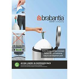Roskapussi Brabantia PerfectFit G 23-30 litraa 40 kpl x 10 jakelupakkausta