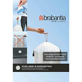 Roskapussi Brabantia PerfectFit H 50-60 litraa 30 kpl x 9 jakelupakkausta