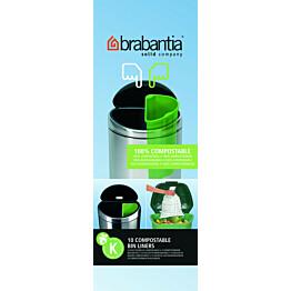Roskapussi kompostoituva Brabantia PerfectFit K 10 litraa 10 kpl x 12 rullaa