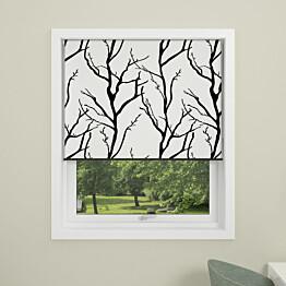 Rullakaihdin Debel Tree 140x175 cm pimentävä valkoinen