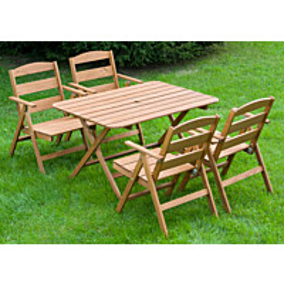 Ruokailuryhmä Nadja pöytä ja 4 tuolia ruskea