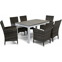 Ruokailuryhmä Torsö 6 Somero tuolilla 152-210 cm