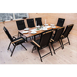 Ruokapöytä Naantali 152-210 musta