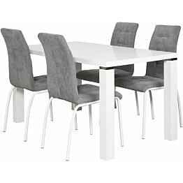 Ruokapöytä Tenstar Metro 80x140cm valkoinen