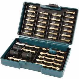 Ruuvauskärkisarja Makita B-54536 38-osainen Impact Gold