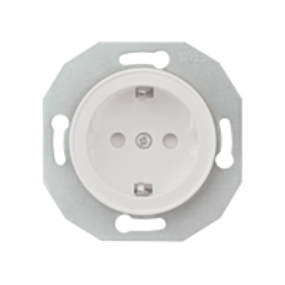 Renova 1-pistorasia IP21 valkoinen