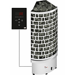 Sähkökiuas SAWO Aries Corner Ni2, 6 kW, 5-8m³, erillinen ohjaus