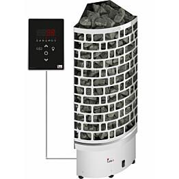 Sähkökiuas SAWO Aries Corner Ni2, 9 kW, 8-14m³, erillinen ohjaus