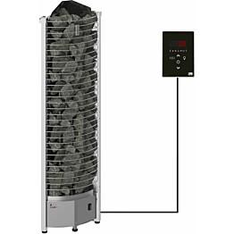Sähkökiuas SAWO Tower Corner Ni2, 4,5kW (3-6m³), erillinen ohjauskeskus