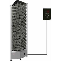 Sähkökiuas SAWO Tower Corner Ni2, 8kW (7-13m³), erillinen ohjauskeskus