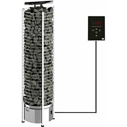 Sähkökiuas SAWO Tower Wall Ni2, 4,5kW (3-6m³), erillinen ohjauskeskus