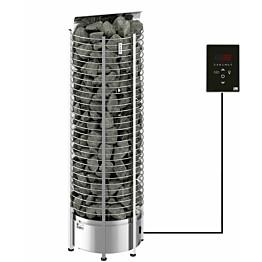 Sähkökiuas SAWO Tower Wall Ni2, 8kW (7-13m³), erillinen ohjauskeskus