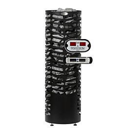 Sähkökiuas Econ, 6,6kW (6-10m³) erillinen ohjauskeskus musta