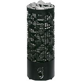 Sähkökiuas Mondex Tahko M 6,6 kW 6-9 m³ kiinteä ohjaus musta