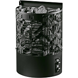 Sähkökiuas Mondex Teno M 6,6 kW 6-9 m³ kiinteä ohjaus musta