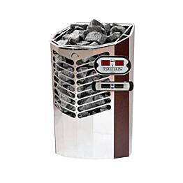 Sähkökiuas Titan 6,6kW (6-10 m³) erillinen ohjauskeskus antiikkukupari