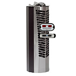 Sähkökiuas Titan 6,6kW (6-10 m³) erillinen ohjauskeskus musta