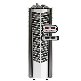 Sähkökiuas Triton 6,6kW (6-10 m³) erillinen ohjauskeskus musta koristelista