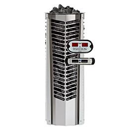 Sähkökiuas Triton 6,6kW (6-10 m³) erillinen ohjauskeskus valkoinen koristelista